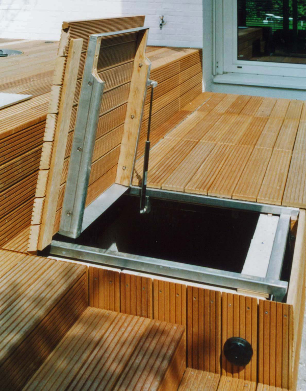 gartengestaltung mit holzterrasse und gartenbeleuchtung - Gartengestaltung Mit Holzterrasse