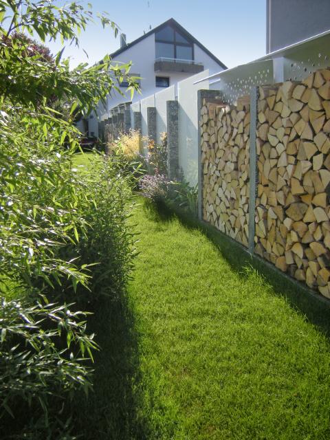 Sichtschutz brennholz